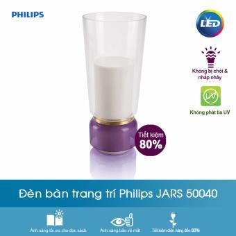 Đèn bàn Philips Jars 1x15W 230V (Tím) + Tặng 01 Hộp Bút và 01 Sổ Tay Cao Cấp