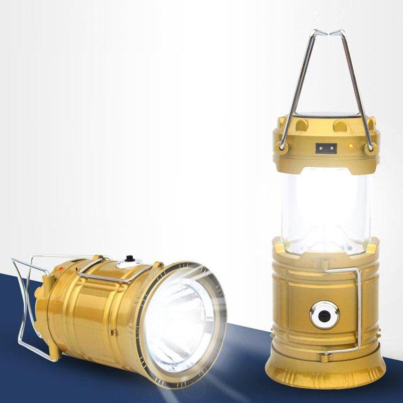 Đèn bão năng lượng mặt trời 3 trong 1 kiêm đèn pin – Vàng