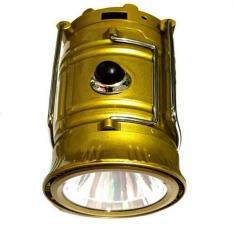 Đèn bão năng lượng mặt trời có đèn pin HL 5800T 6 + 1 LED (Vàng neon)
