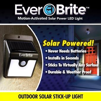 Đèn cảm biến hồng ngoại dùng pin năng lượng mặt trời Ever Brite (Đen)