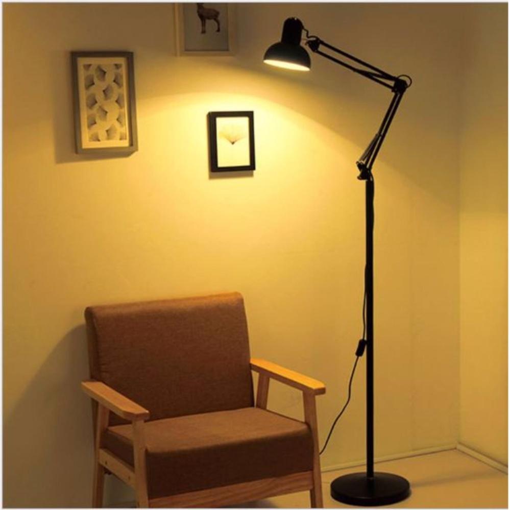 Đèn cây, đèn sàn nội thất, đèn trang trí nội thất kèm bóng LED và kẹp đa năng