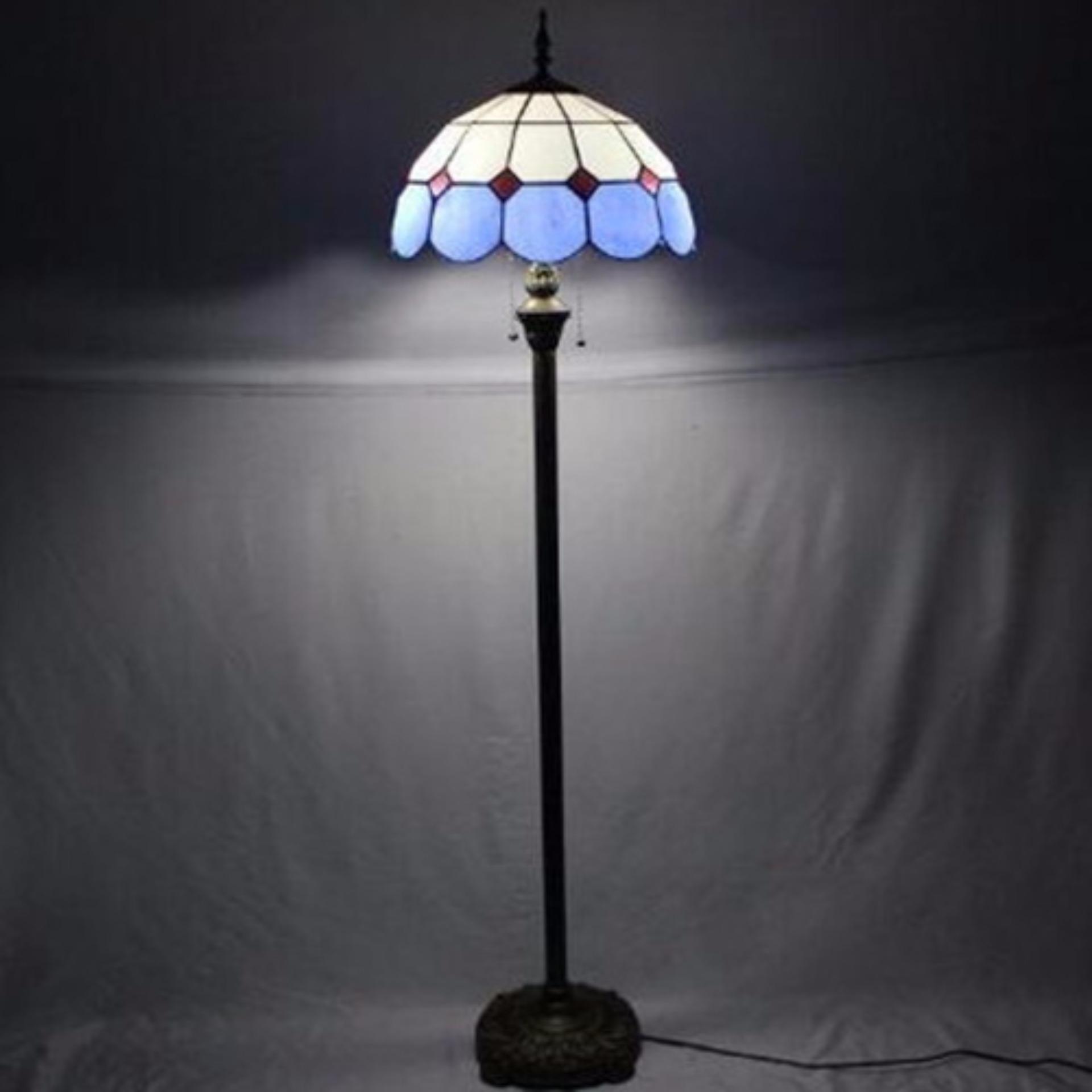 Báo Giá Đèn cây kiểu dáng Tiffany phong cách Blue Sea