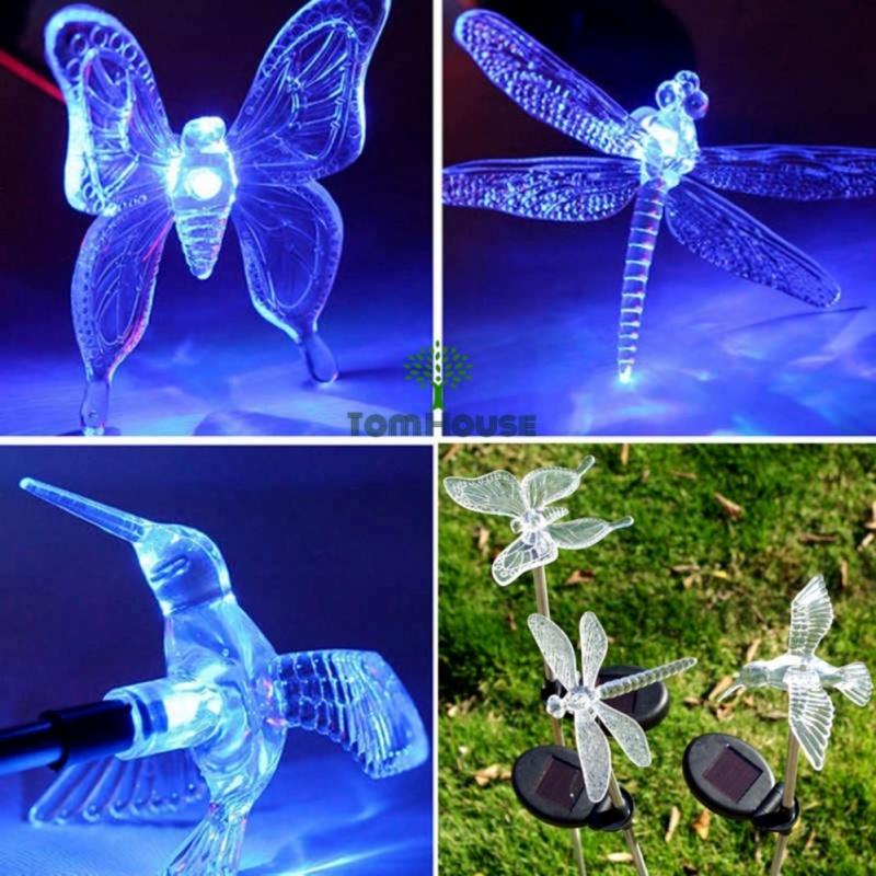 Bảng giá Đèn chiếu sáng trang trí sân vườn năng lượng mặt trời con bướm