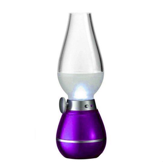 Chỗ bán Đèn LED kiểu đèn dầu không khói cảm ứng khi thổi (tím)( thổi tắt, thổi bật )