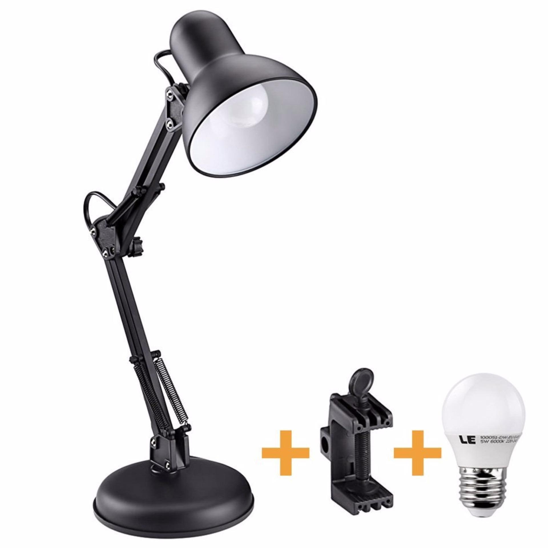 Giá Niêm Yết Đèn để bàn học tập, làm việc (có chân kẹp bàn) Pixar MT-322 + Tặng 1 bóng LED 7W