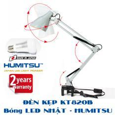 Đèn kẹp bàn Pixar – bóng LED HUMITSU Nhật Bản – DTKT820B-H5W – Đen, Trắng