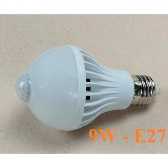 Đèn LED cảm ứng hồng ngoại 9W Trắng