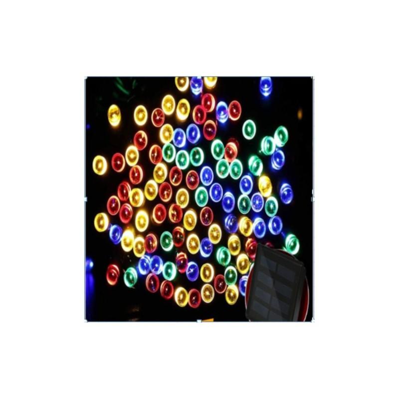 Bảng giá Mua Đèn led dây năng lượng mặt trời 200 bóng chấm bi nhiều màu sắc