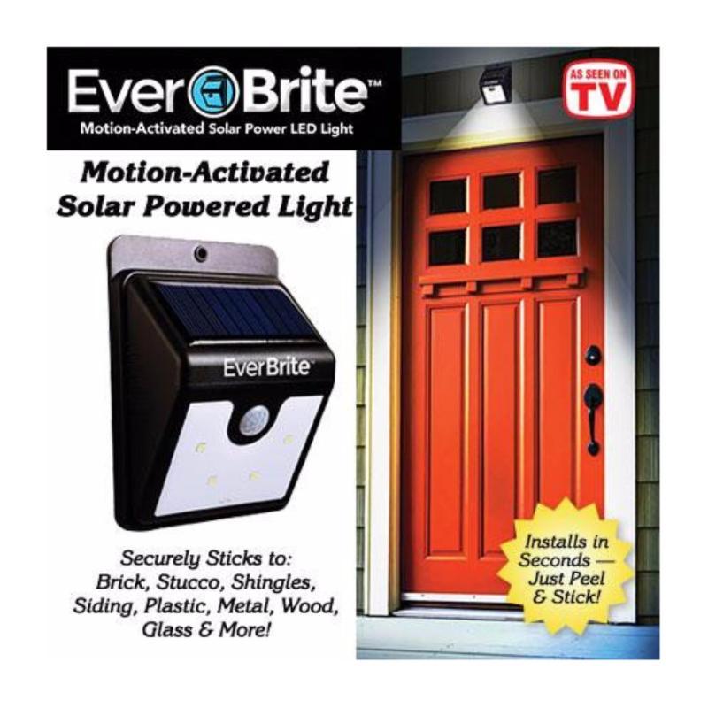 Bảng giá Đèn LED hồng ngoại cảm biến Ever Brite - Pin sạc năng lượng mặt trời (Đen)