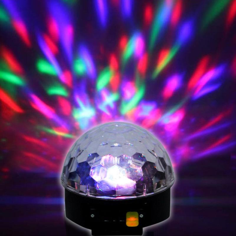Bảng giá Mua Đèn Led nấm quả cầu xoay pha lê 7 màu cảm biến nhạc