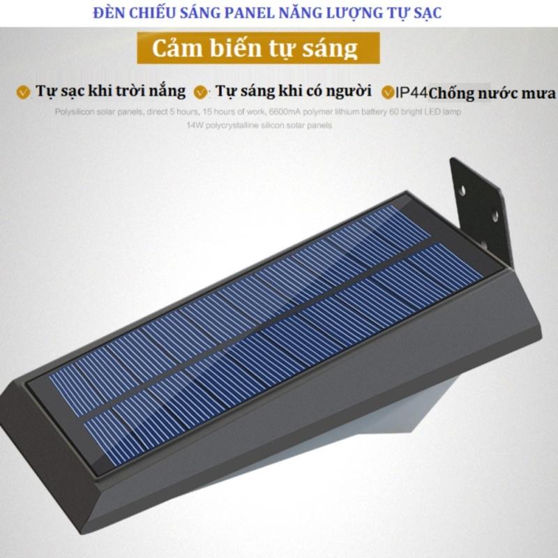 Bảng giá Mua Đèn led năng lượng mặt trời, chống nước, cảm biến hồng ngoại 2 (Bạc)