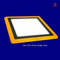 Đèn led nổi ốp trần 24w vuông 2 màu 3 chế độ ánh sáng trắng vàng