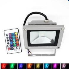 Đèn Led pha đổi màu có điều khiển 10W (Xám nhạt)