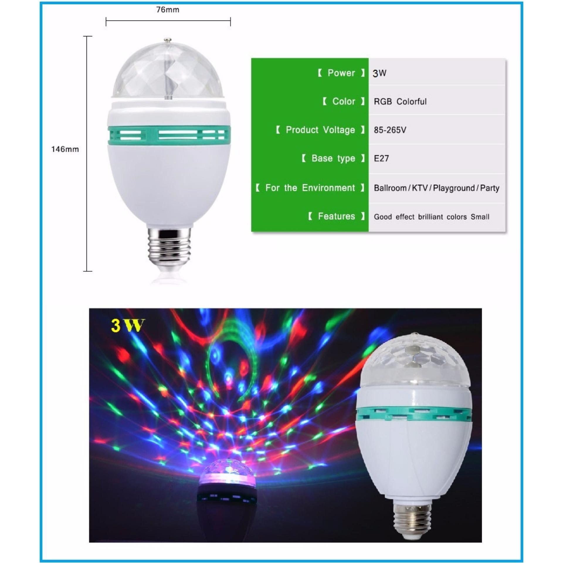 Đèn LED sân khấu vũ trường xoay nhiều màu RGB 3w POSSON