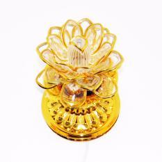 Đèn LED trang trí hoa sen tứ quý LED A5 (sen viền vàng)