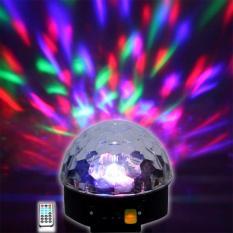 Đèn led xoay 7 màu cảm ứng theo nhạc, kết nối Bluetooth phát nhạc