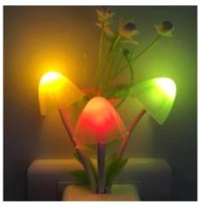 Đèn ngủ avatar hình nấm cảm ứng ánh sáng đổi màu procare LAZAPAY.VN