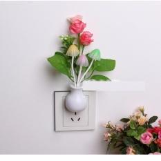 Đèn ngủ cảm ứng nấm hoa hồng NVPRO (Hồng)