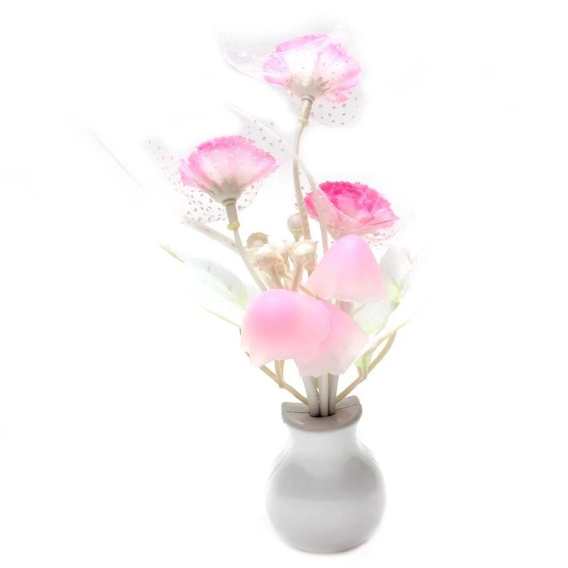 Ở đâu bán Đèn ngủ cảm ứng nấm hoa hồng NVPRO (Hồng)