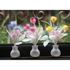Giá Đèn ngủ cảm ứng nấm hoa tulip NVPRO (Hồng)