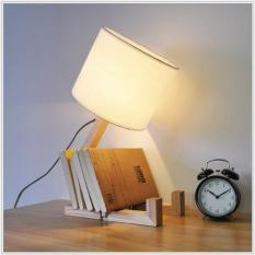 Đèn ngủ HUMAN để bàn – đèn trang trí phòng ngủ – đèn ngủ Decor gỗ – kèm bóng LED cao cấp