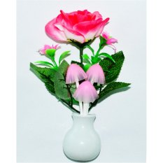 Đèn ngủ thông minh hình nấm đổi màu và hoa hồng