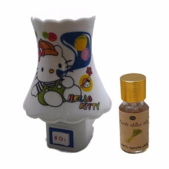 Đèn ngủ xông tinh dầu Hello Kitty + Tặng Tinh dầu sả thiên nhiên 10ml