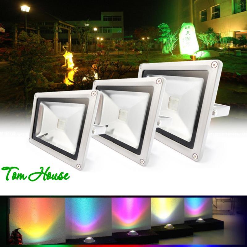 Bảng giá Mua Đèn pha chiếu sáng ngoài trời 16 màu RGB LED công suất 20W LPDM20 ( có điều khiển từ xa )