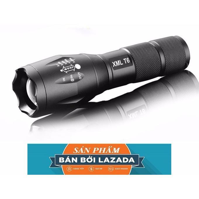 đèn pin chiếu sáng, Đèn pin MINI siêu sáng XTML-CLB 6S Pro BỀN ĐẸP, SÁNG MẠNH, BẢO HÀNH BỞI LAZADA TẶNG KÈM 1 PIN 7000Ma+1 sạc+1 đốc để pin AAA+1 hộp đựng cao cấp
