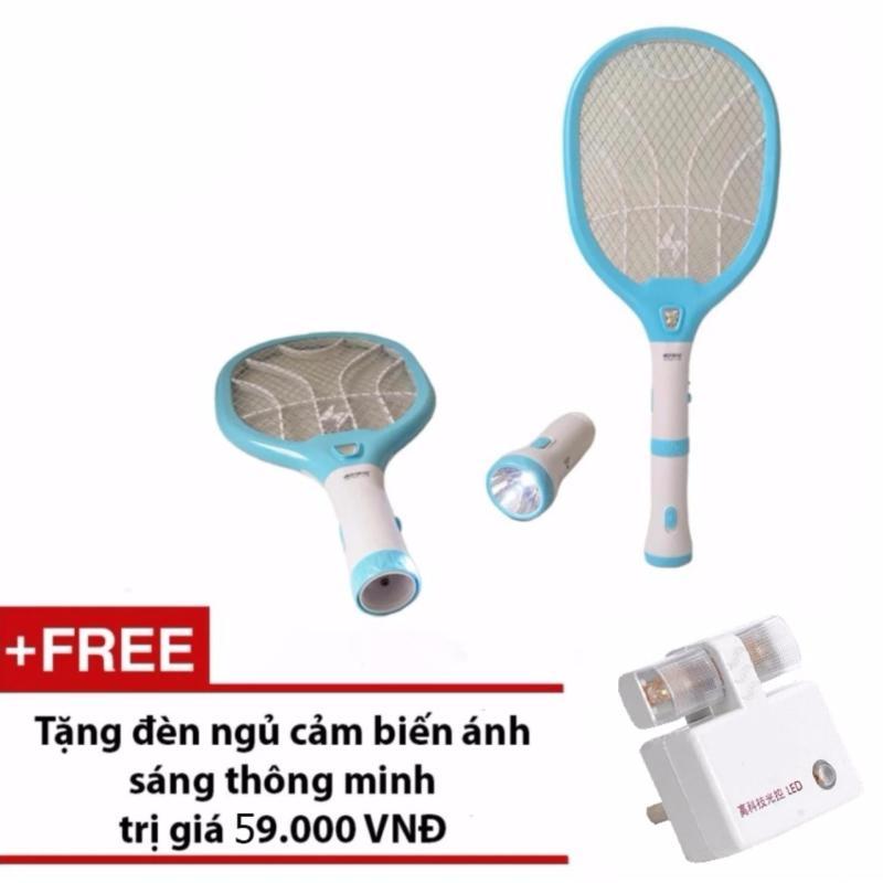 Bảng giá Mua Đèn pin kiêm vợt bắt muỗi KamiSafe KM-3820 + Tặng đèn ngủ cảm biến ánh sáng