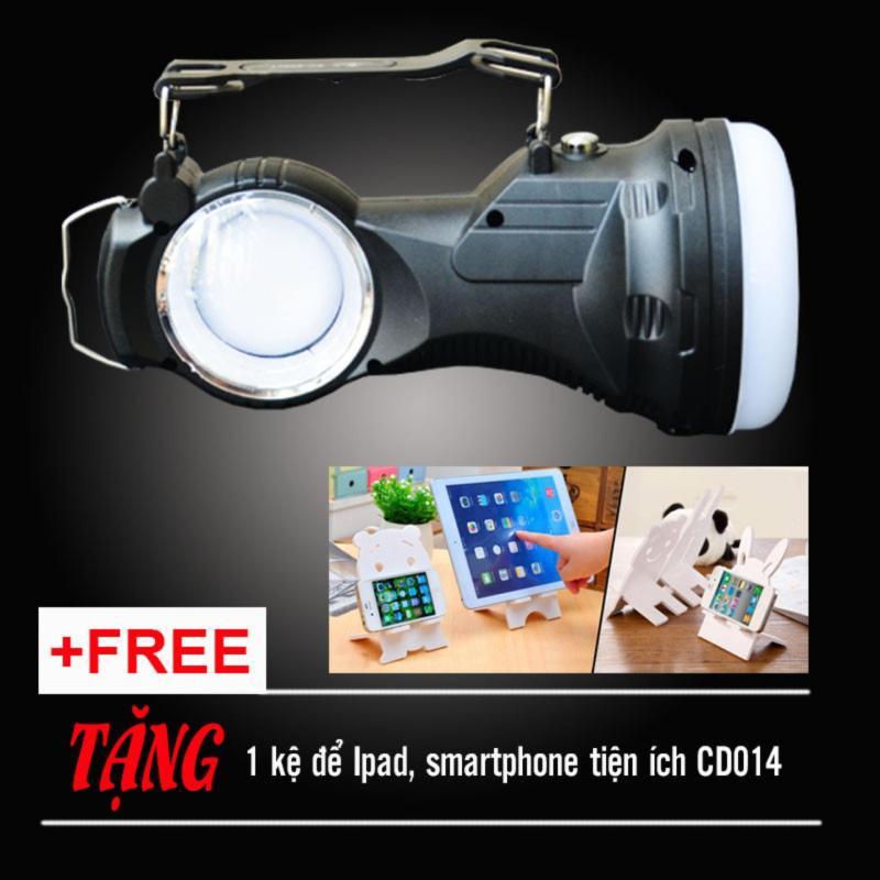 Bảng giá Mua Đèn pin LED năng lượng mặt trời siêu sáng KC-9980T (tặng kệ Smartphone tiện ích)