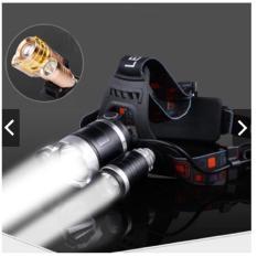 Đèn pin Led siêu sáng đội đầu 3 bóng (Đen) + Kèm hai Pin+ Kèm Thêm Sạc- Hàng Nhập Khẩu Loai 1