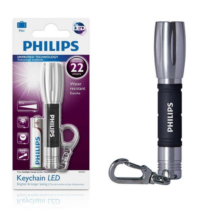 Bảng giá Mua Đèn Pin Philips SFL2101 LED Móc Khóa(Bạc)