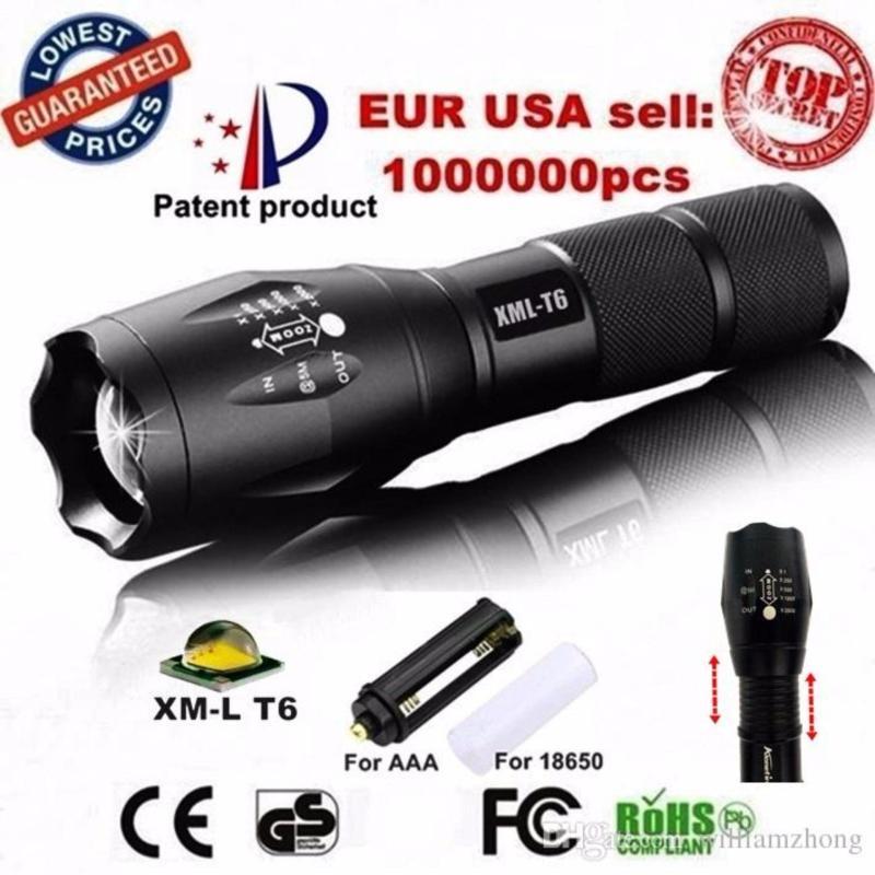 Bảng giá Den pin police - Đèn pin siêu sáng Quân sự MỸ  ST6 - Tặng sạc + Pin + Hộp đựng đèn.