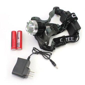 Đèn pin sạc đeo đầu 2 pin HY - 2188