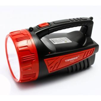Đèn pin sạc điện Tiross ts-682 (Đen phối đỏ)