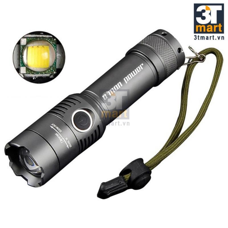 Bảng giá Mua Đèn pin siêu sáng CMON POWER SECURITY XML-T6 LED 10W 2000lm chiếu xa 500m (xám)