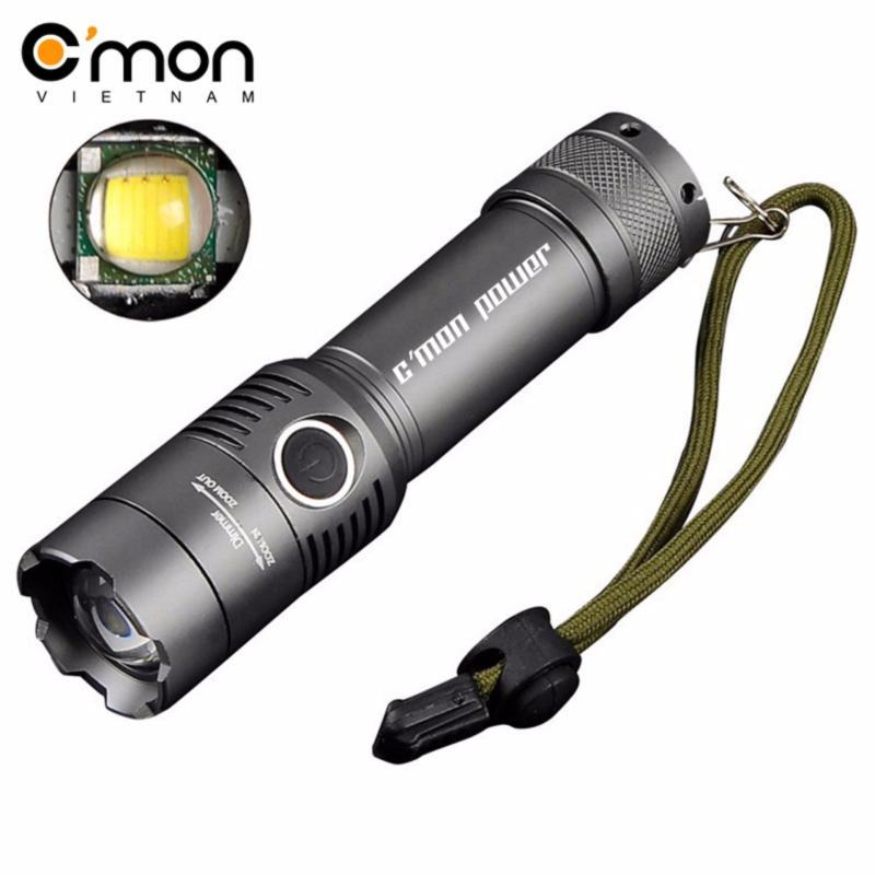 Bảng giá Mua Đèn pin siêu sáng CMON SECURITY XML-T6 LED 10W 2000lm chiếu xa 500m (xám)