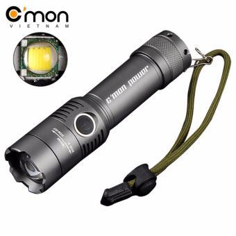 Đèn pin siêu sáng C'MON SECURITY XML-T6 LED 10W 2000lm chiếu xa500m (xám)