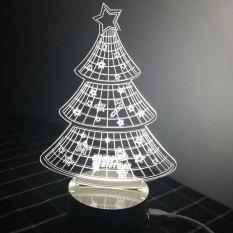 Đèn trang trí 3D hình cây thông Flancoo 5951 (Trắng)