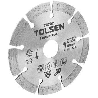 """ĐĨA CẮT GẠCH KIM CƯƠNG TOLSEN 76702- 115(4-1/2"""")X22.2mm"""