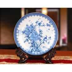 So Sánh Giá Đĩa gốm sứ phong thủy trang trí phòng khách, họa tiết tinh xảo DTT044