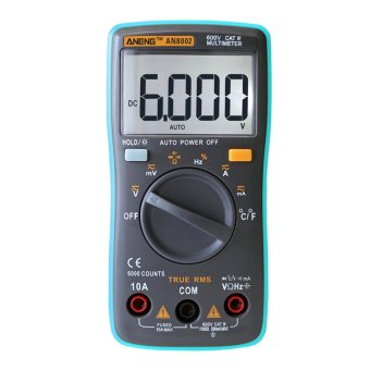 Digital Multimeter 6000 Counts Backlight AC/DC Ohm Ammeter - intl
