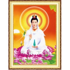Tranh thêu chữ thập Phật bà quan âm DLH-222349-Ngọc Thịnh