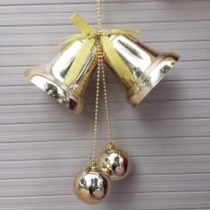 Đôi chuông bóng D=10cm trang trí giáng sinh Noel