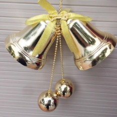 Đôi chuông bóng D=13cm trang trí giáng sinh Noel
