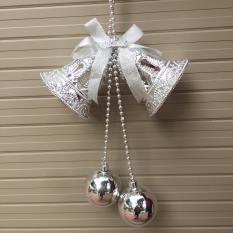 Đôi chuông khắc D=10cm trang trí giáng sinh Noel