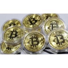 Đồng Bitcoin hợp kim mạ vàng 24k ( Quà tặng tết 2018 ) – Huy Tưởng