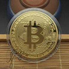 [MUA 5 ĐỒNG CÒN 14K] Đồng Bitcoin Lưu Niệm Mạ Vàng 24K Cao Cấp JV140-1
