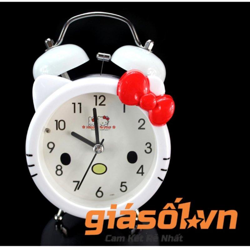 Nơi bán Đồng hồ báo thức để bàn cho bé 17063 (Trắng nơ đỏ)